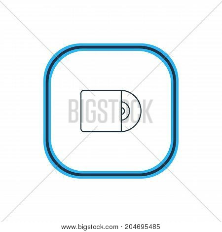 Compact Disk Element.  Vector Illustration Of Cd Outline.