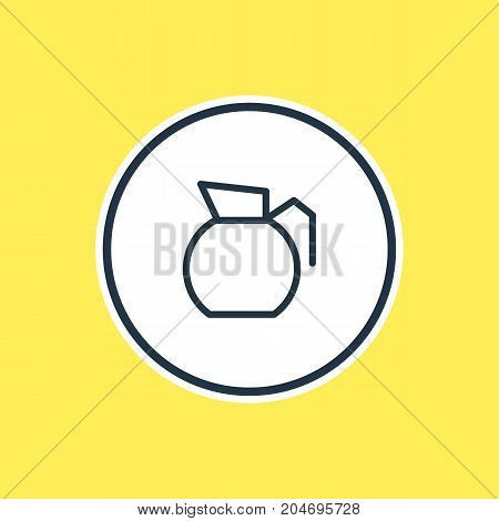 Coffee Element Also Can Be Used As Decanter Element.  Vector Illustration Of Pot Outline.
