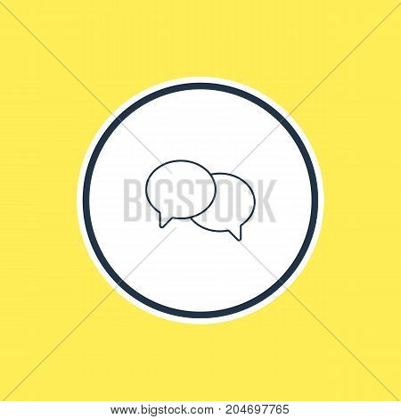 Beautiful Internet Element Also Can Be Used As Talking Element.  Vector Illustration Of Chat Outline.