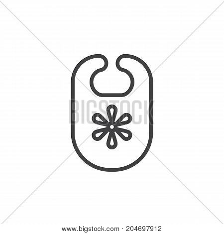 Bib line icon, outline vector sign, linear style pictogram isolated on white. Symbol, logo illustration. Editable stroke