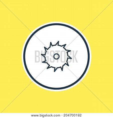 Beautiful Structure Element Also Can Be Used As Circle Blade Element.  Vector Illustration Of Saw Outline.