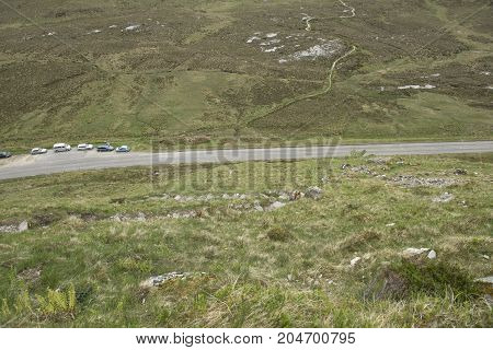 Landscape view in Wester ross Scotland in the Springtime