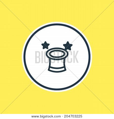 Beautiful Leisure Element Also Can Be Used As Magic Hat Element.  Vector Illustration Of Wizard Outline.