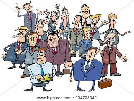 Cartoon Businessmen Group Illustration