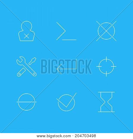 Editable Pack Of Startup, Accsess, Maintenance And Other Elements.  Vector Illustration Of 9 Interface Icons.