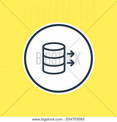 Beautiful Network Element Also Can Be Used As Transfer Element.  Vector Illustration Of Data Outline.