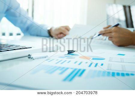 Businessmen Teamwork Brainstorming Meeting.