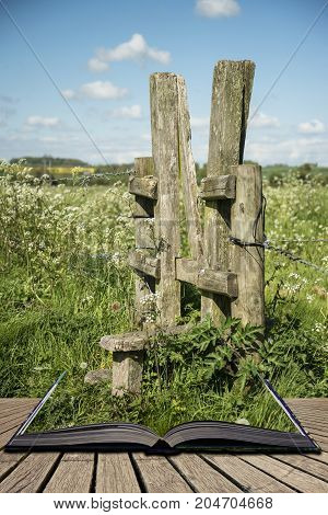 Beautiful Vibrant English Countryside Landscape In Idyllic Sunshine Conditions For Hiking  Concept C
