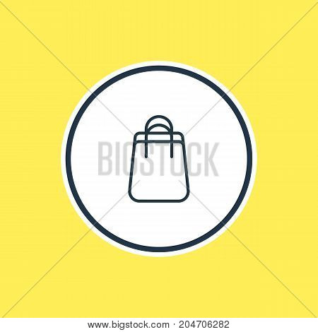 Beautiful Trading Element Also Can Be Used As Shopping  Element.  Vector Illustration Of Bag Outline.