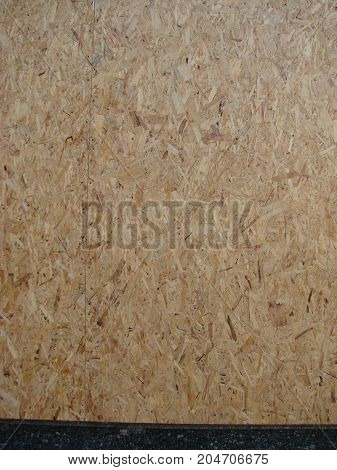 Close Up Pressed Wooden Panel Background, Seamless Texture Of Oriented Strand Board - Osb Wood