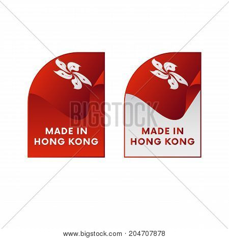 Stickers Made in Hong Kong. Vector illustration.