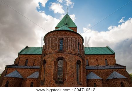 Sct. Bendts church in town of Ringsted in Denmark
