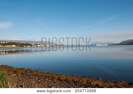 City Of Akureyri In Iceland