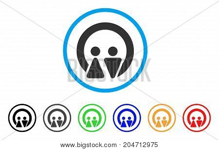 Marriage rounded icon. Style is a flat marriage grey symbol inside light blue circle with black, gray, green, blue, red, orange color versions. Vector designed for web and software interfaces.