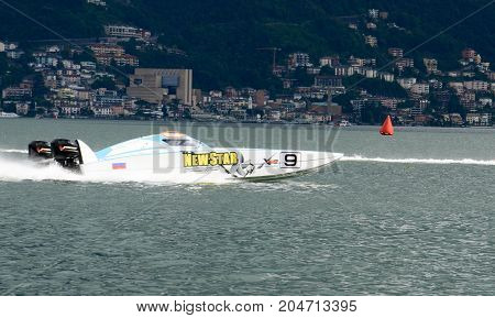 Speed Boat At Xcat World Offshore Championship