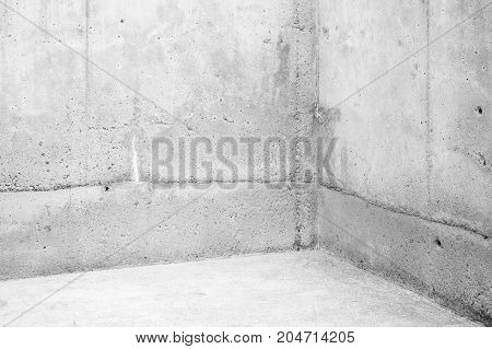 Empty Room, Corner Of White Stone Walls