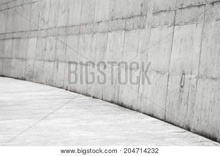 Abstract White Concrete Tunnel Interior