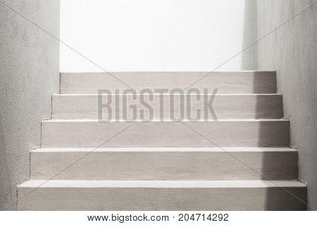 White Stairs, Empty Modern Interior