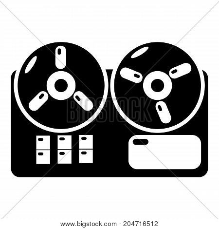 Reel tape recorder icon . Simple illustration of reel tape recorder vector icon for web design isolated on white background