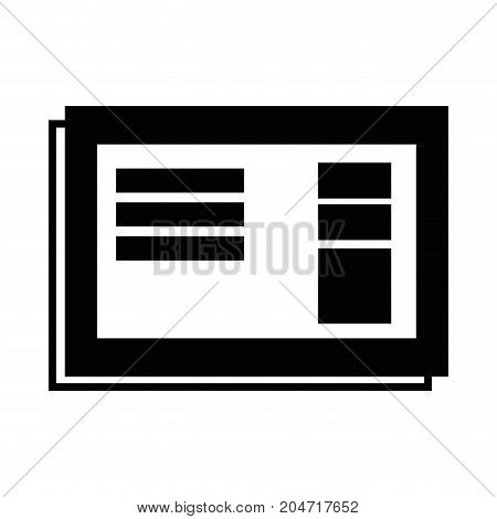 contour business document with company information design vector illustration