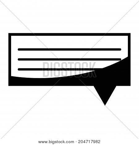 contour chat bubble graphic text message vector illustration