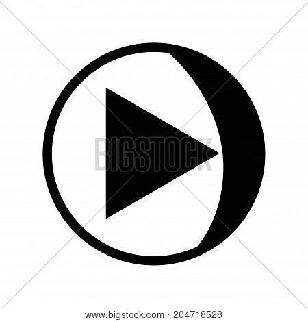 contour video media symbol to play film vector illustration