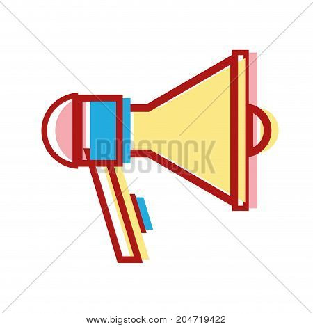 megaphone element to speak and said message vector illustration