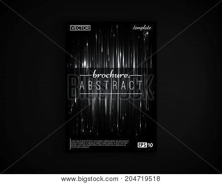 Brochure cover design postcard isolated. 2d background motion objects futuristic. Poster, flyer, poster, business card and other your projects. Vector Illustration.