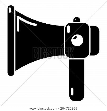 Hand speaker icon . Simple illustration of hand speaker vector icon for web design isolated on white background