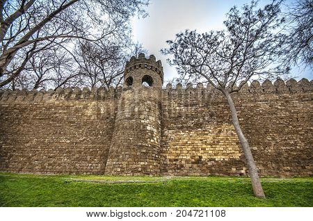 Fortress Of The Old Sity Baku, Entrance Gate. Historical Core Of Azerbaijan Baku
