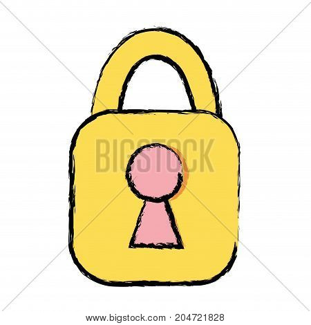 padlock element to security and protection sign vector illustration