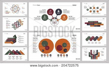 Infographic design set can be used for workflow layout, diagram, annual report, presentation, web design. Business and recruitment concept with process, bar and percentage charts.