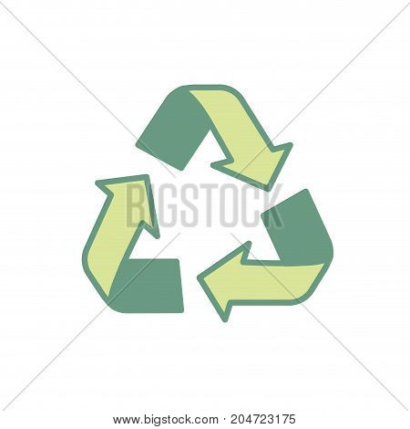pretty environment symbol to recycle reduce and reuse vector illustration