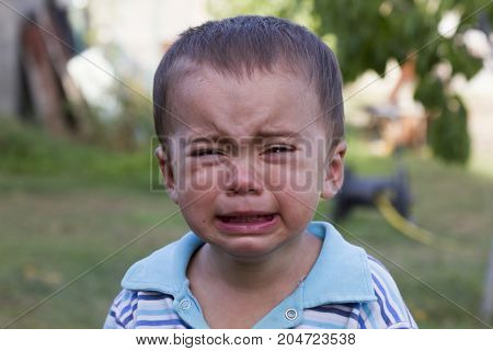 The Little Boy Is Crying Loudly