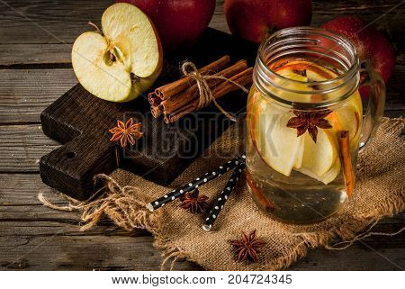 Detox Water With Apple, Pear And Cinnamon