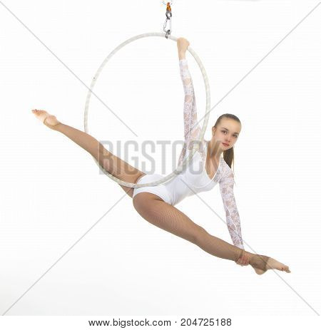 Aerial Acrobat In The Ring.