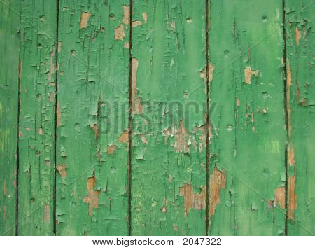 Green Chipping Weathered Paint