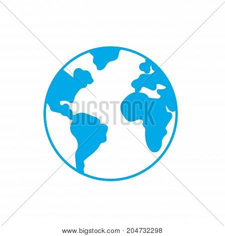 silhouette nice earth planet and natural ecology vector illustration