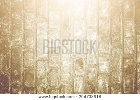 White Brick Wall Surface As Background. Abstract White Texture. Vintage Tone