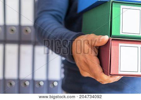 Ring Binder, Corporate Files In Document Binder.