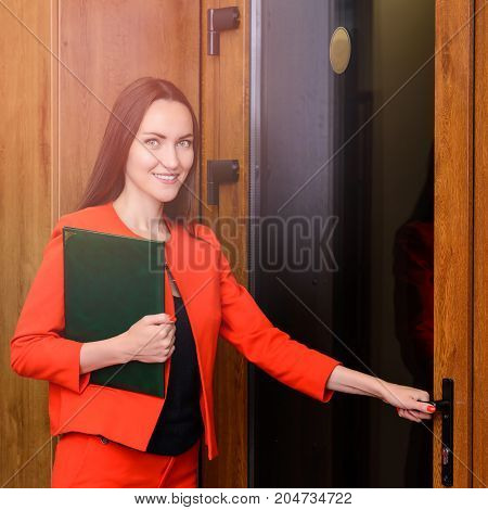 Office Worker Going To Work With A Folder Of Documents