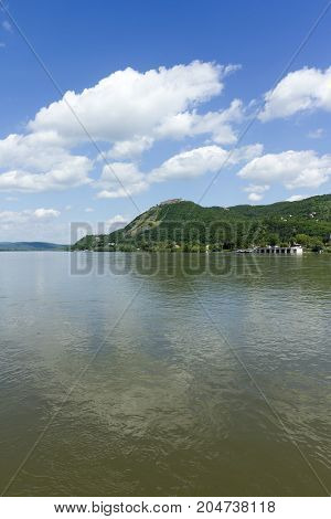 Danube bend at Visegrad, Hungary on a summer afternoon