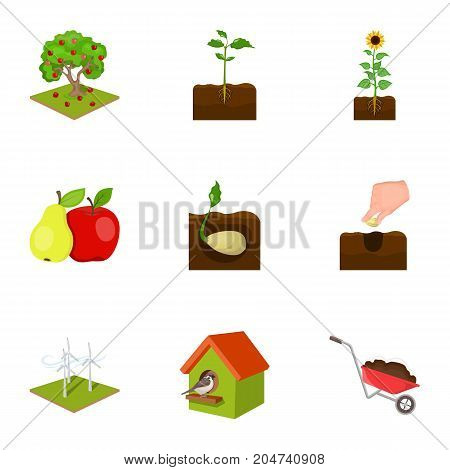 Farm, ecology, nature and other web icon in cartoon style. Soil, manure, plot, icons in set collection.