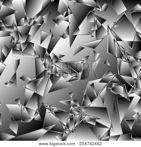 Broken glass background, Abstract explosion, Vector illustration