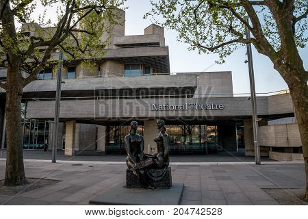 London, England, April 2017: London Pride statue in front of National Theatre in South Bank London Great Britain