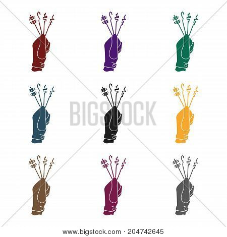 Lockpicks icon in black style isolated on white background. Crime symbol vector illustration.