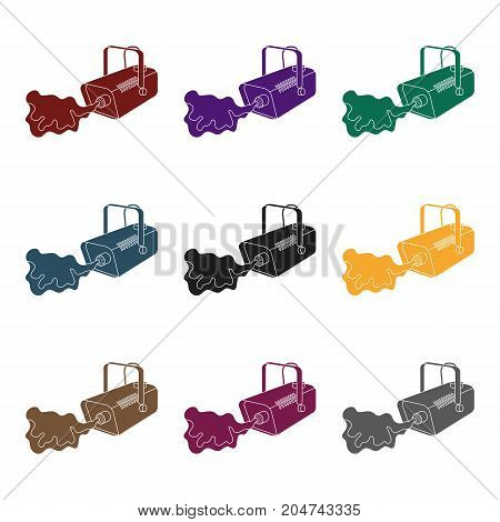 Fog machine icon in black style isolated on white background. Event service symbol vector illustration.