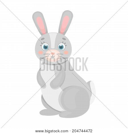 Hare, single icon in cartoon style.Hare, vector symbol stock illustration .