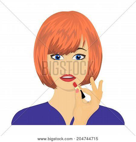 Girl, single icon in cartoon style.Girl vector symbol stock illustration .