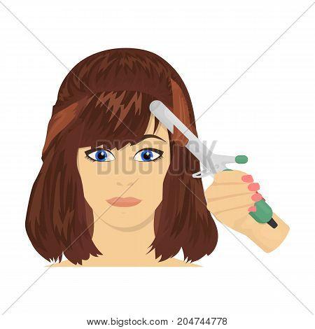 Hair single icon in cartoon style.Hair, vector symbol stock illustration .